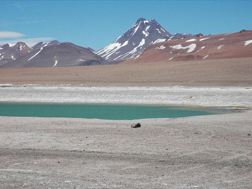Acamarachi Pool, Chile Highest lake in the world