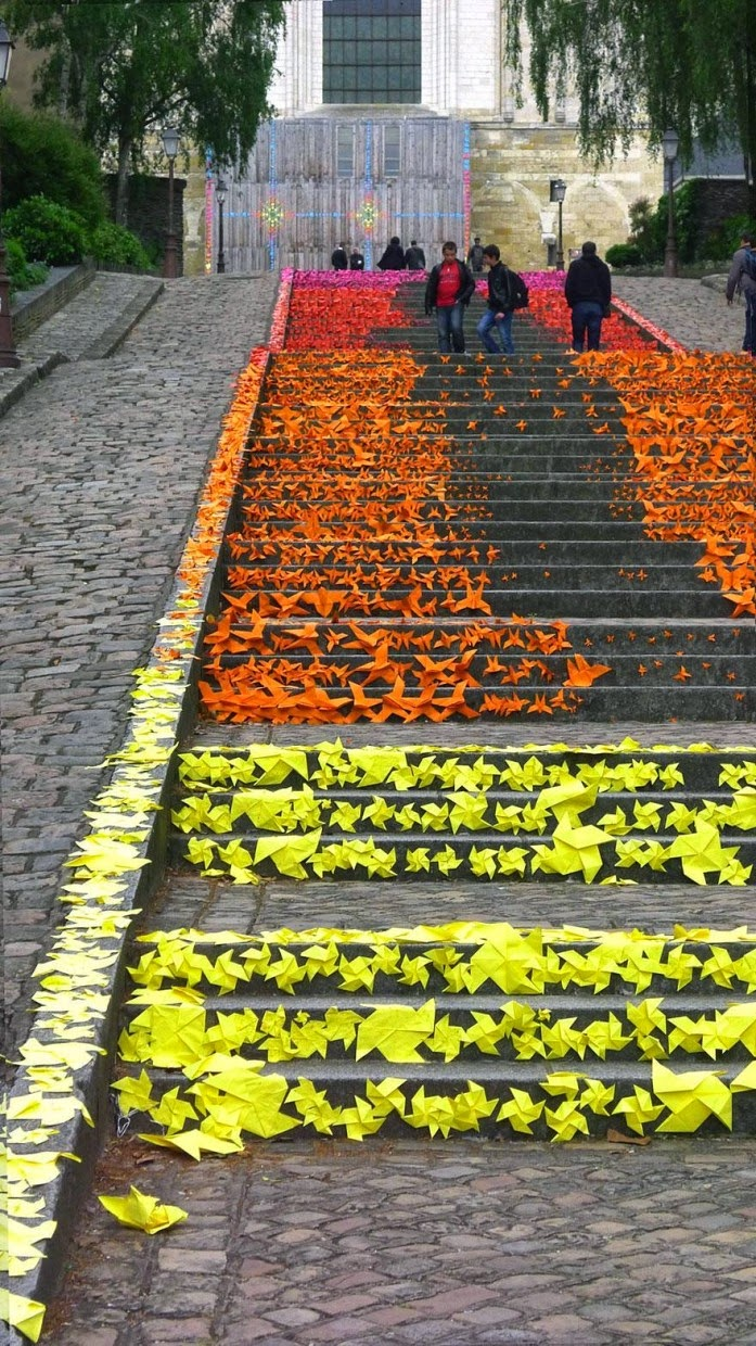 Beautiful painted stairs form around the world  Angers-France