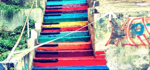 Beautiful painted stairs form around the world Beirut-Lebanon