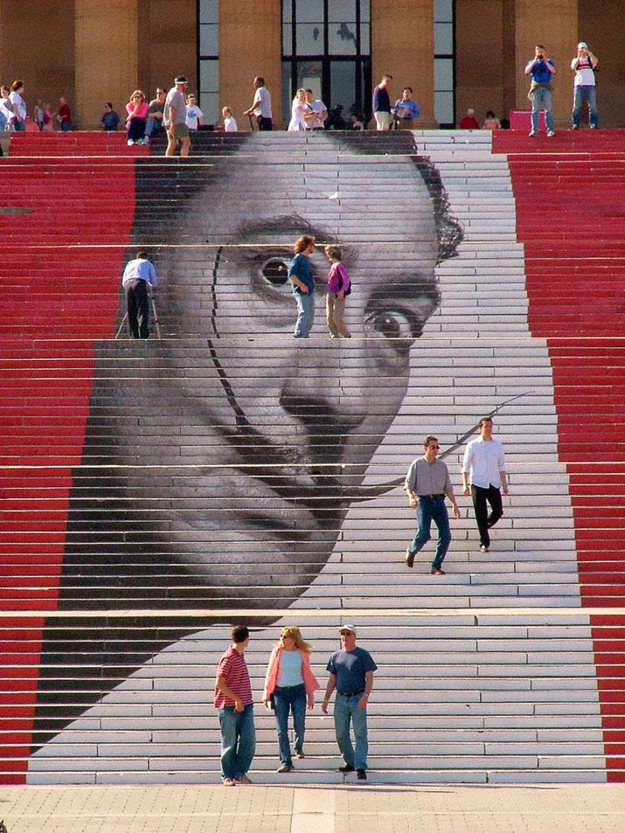 Beautiful painted stairs form around the world - Philadelphia-Museum-of-Art