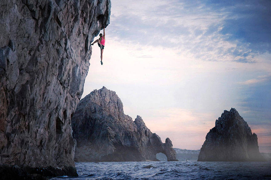 Climbing at the Rock Mountains in Cabo San Lucas