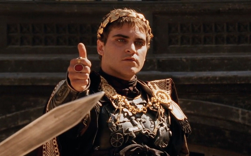 Emperor Commodus – Gladiator best Villains of all time