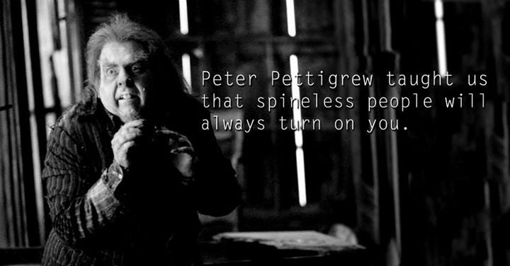 Lessons from Harry Potter Peter Pettigrew