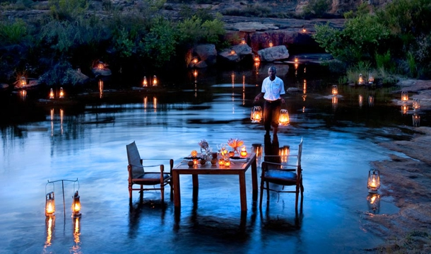 Beautifully designed location to have romantic dinner