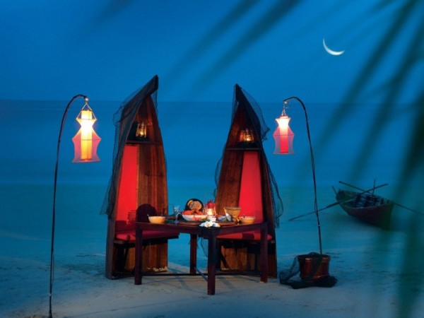 Creatively crafted romantic location for dinner