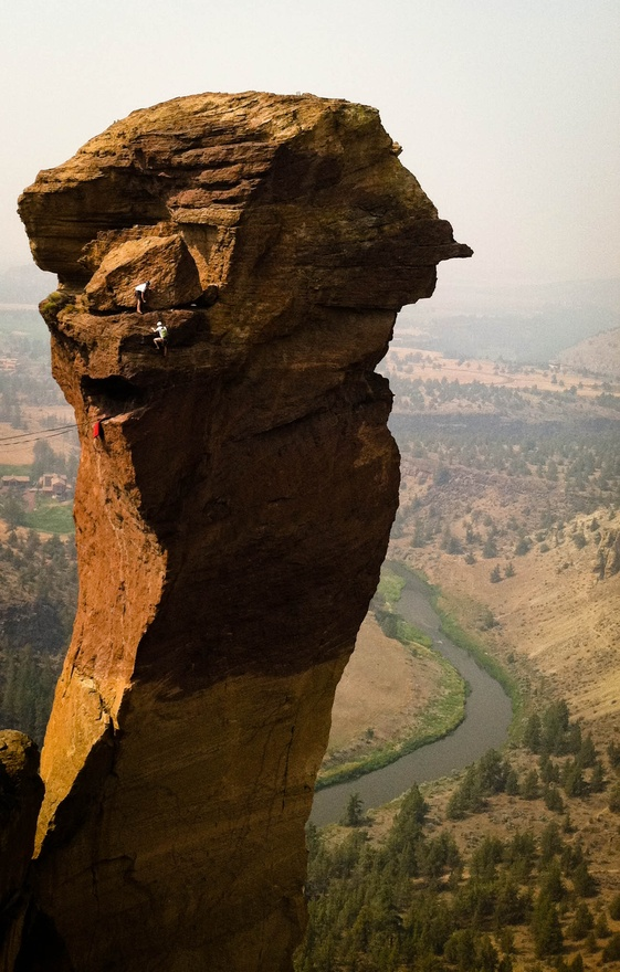 Smith Rock located in central Oregon's high desert.