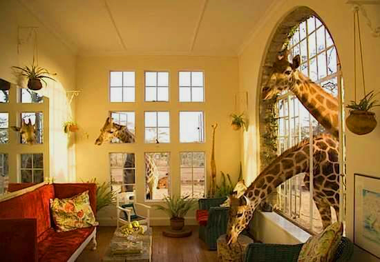 Weirdest Hotels around the world - The Giraffe Manor