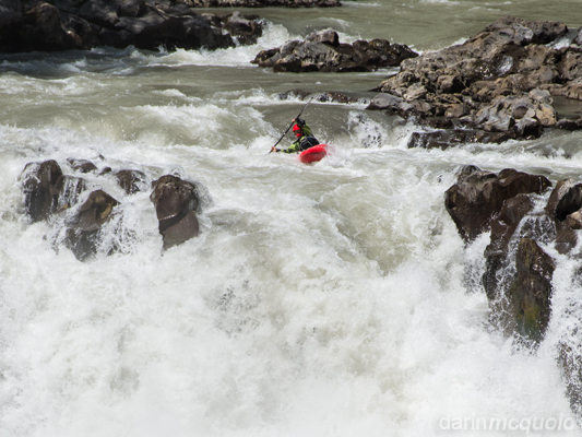Kayaking in the White waters of Chile