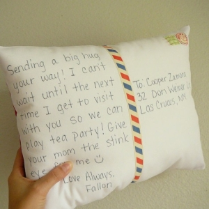 Hugging Pillow to Mail your Hug
