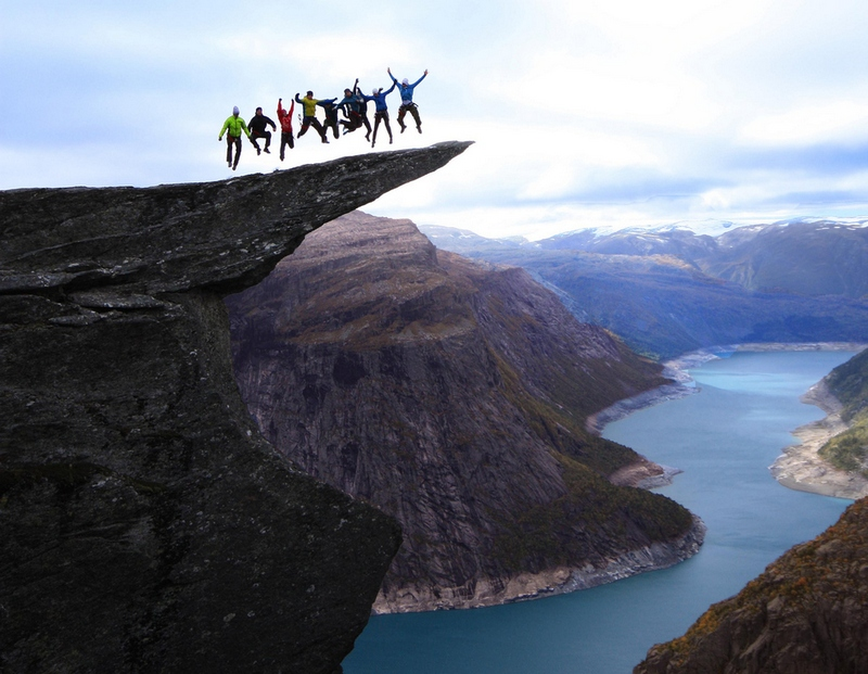 High Jumping on Norway's Trolltunga