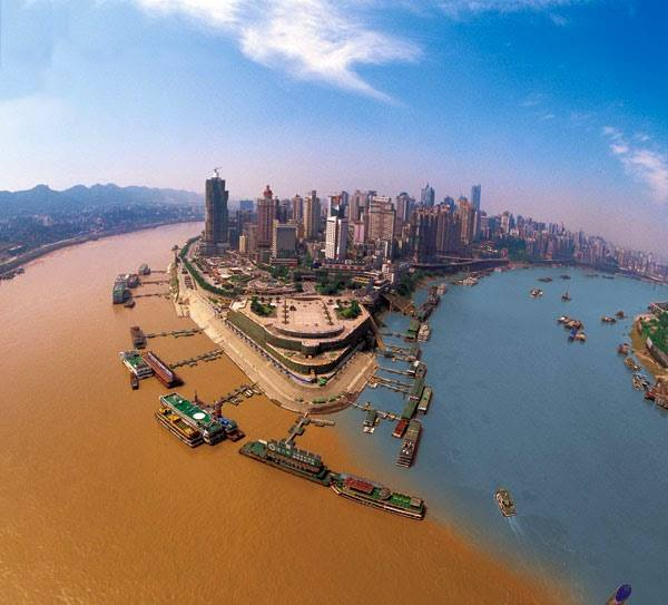 """Jailing River"" meeting ""Yangtze River"" in ""Chongqing – China"""