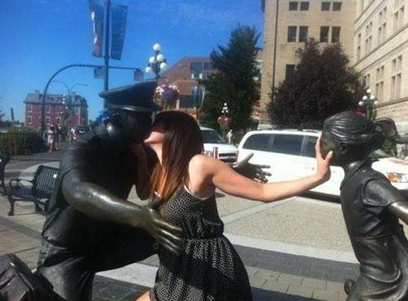 Pranks with Statues