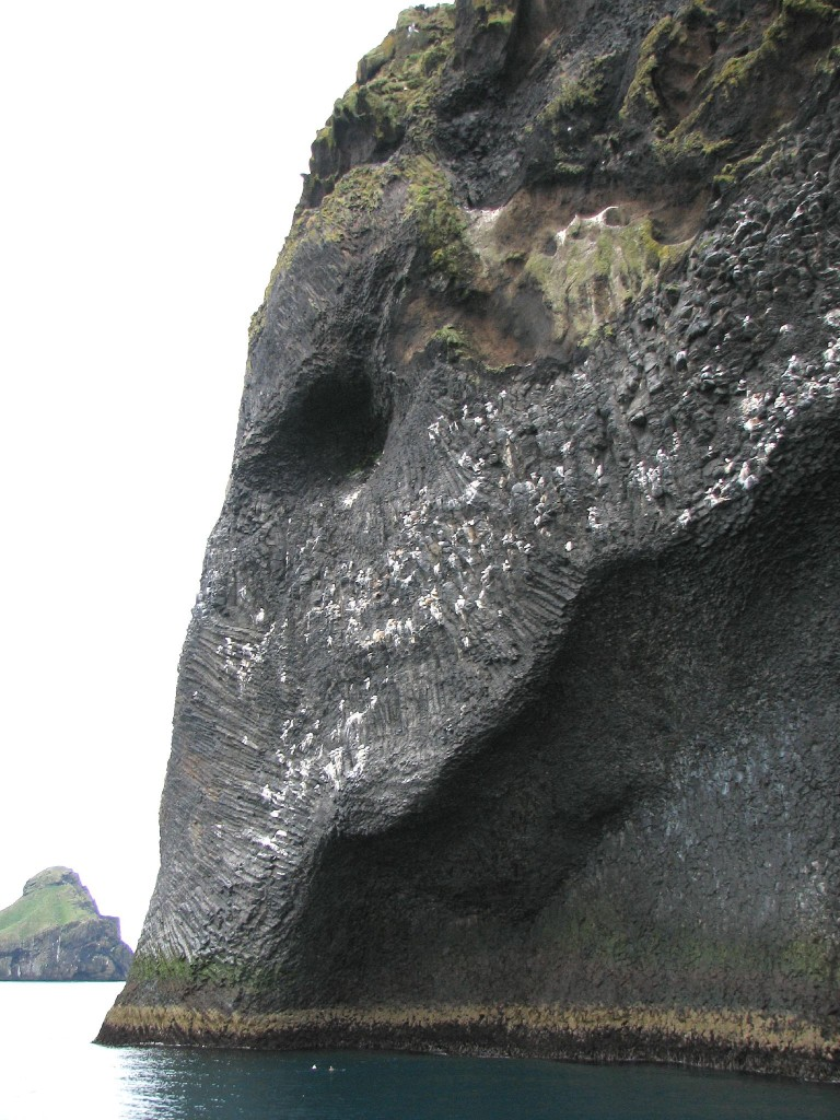 Elephant Rock in Heimaey in Iceland