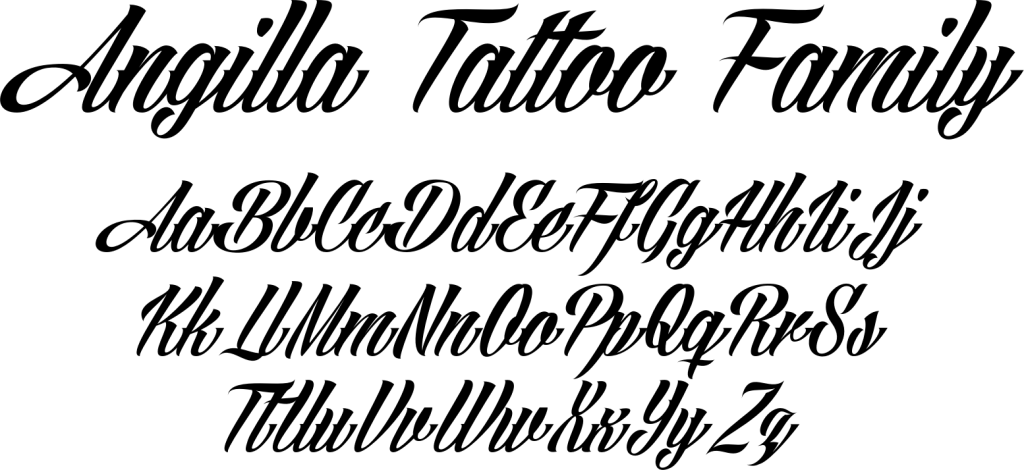 Best Tattoo Fonts - Angilla Tattoo