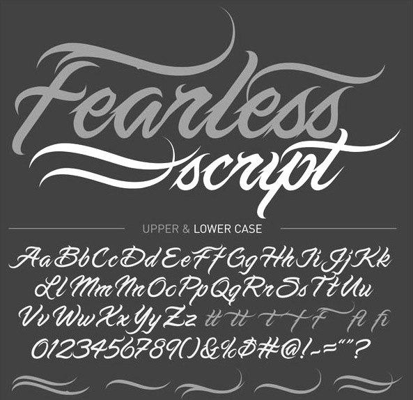 Best Tattoo Fonts - Fearless Script
