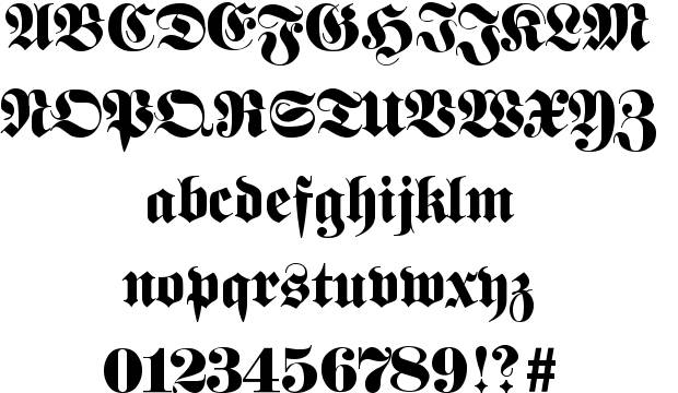 Best Tattoo Fonts - Fette Fraktur
