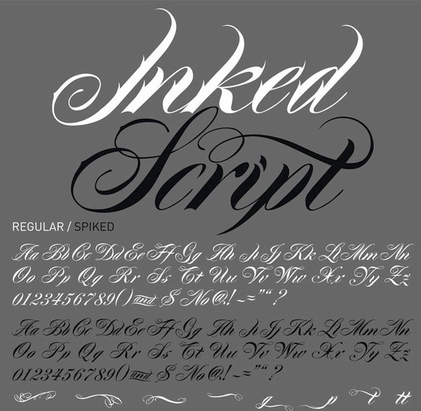 Best Tattoo Fonts - Inked Script