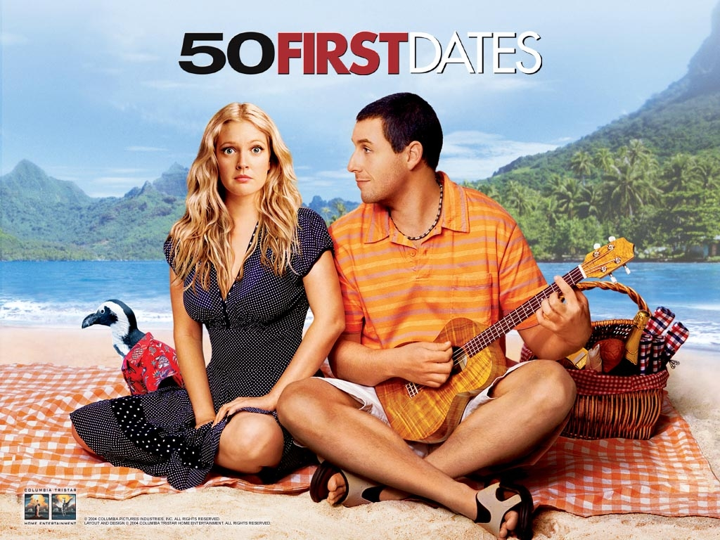 Best Romantic movies of all time - 50 First Dates
