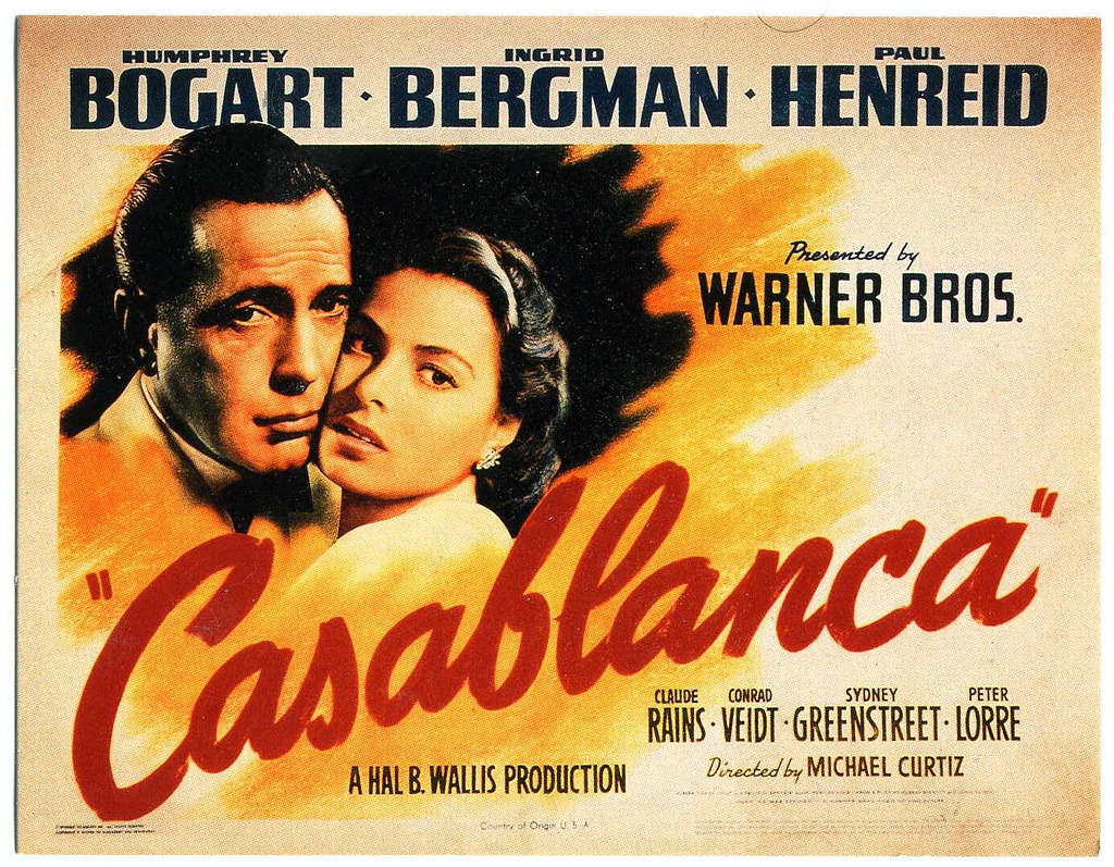 Best Romantic movies of all time - CASABLANCA