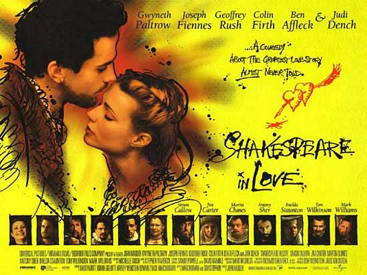 Best Romantic movies of all time - SHAKESPEARE IN LOVE