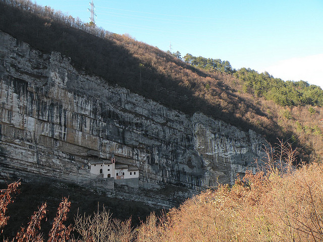 Most Isolated Houses - Hermitage of San Colombano, Italy