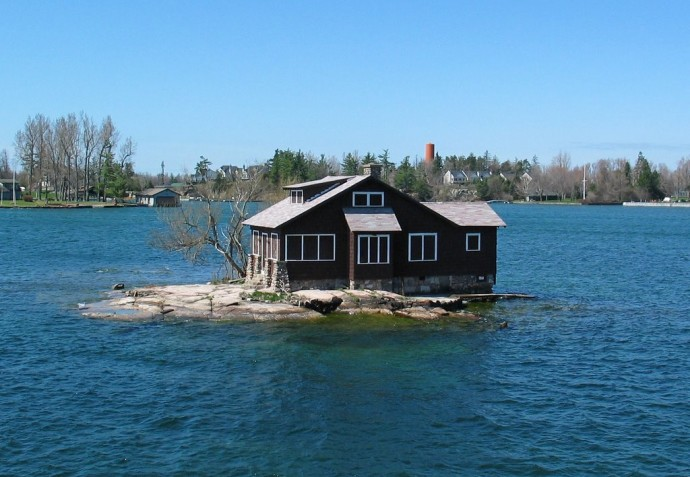Most Isolated Houses - Just Room Enough Island, Canada