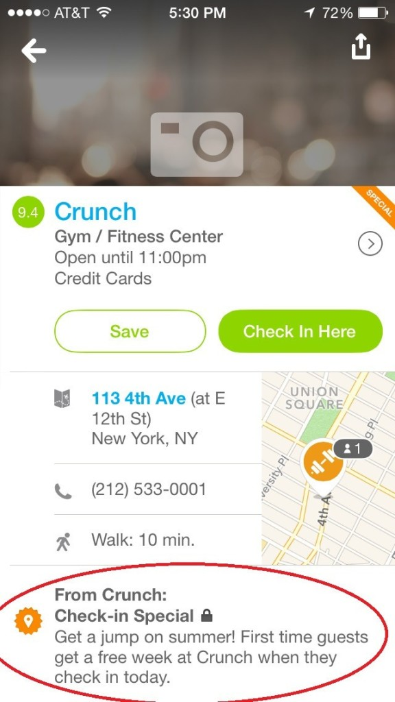 hidden features of foursquare find deals