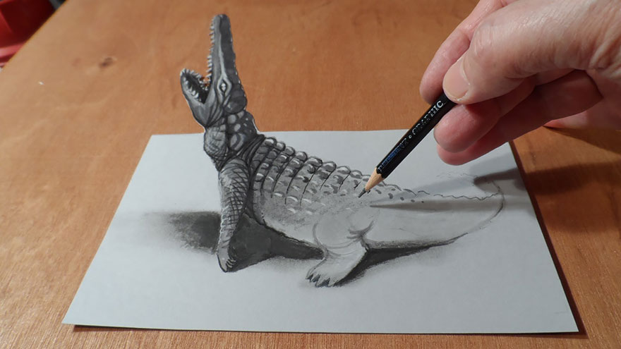 Amazing 3d pencil Drawings 10