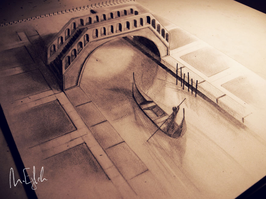 Amazing 3d pencil Drawings 12