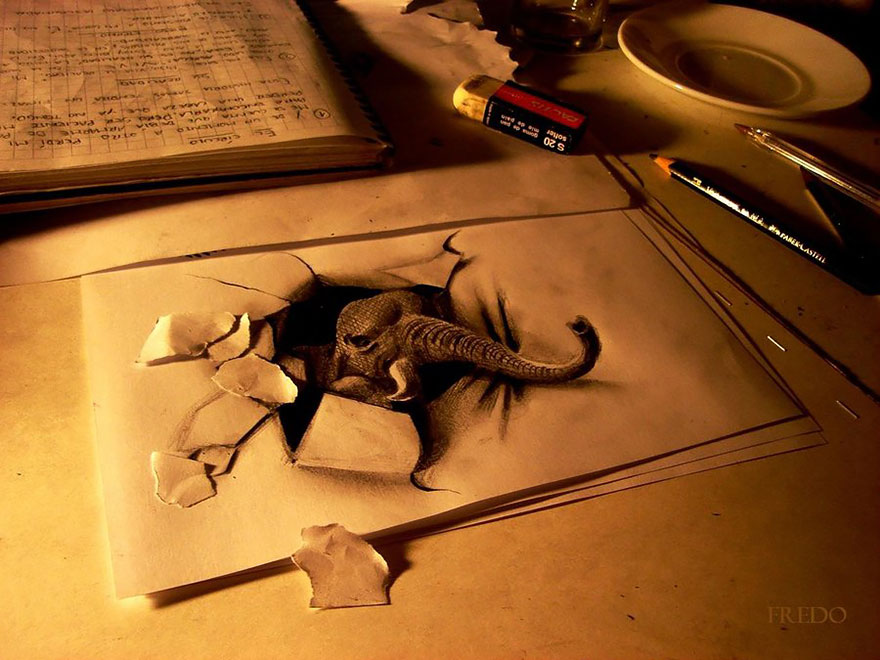 Amazing 3d pencil Drawings 14