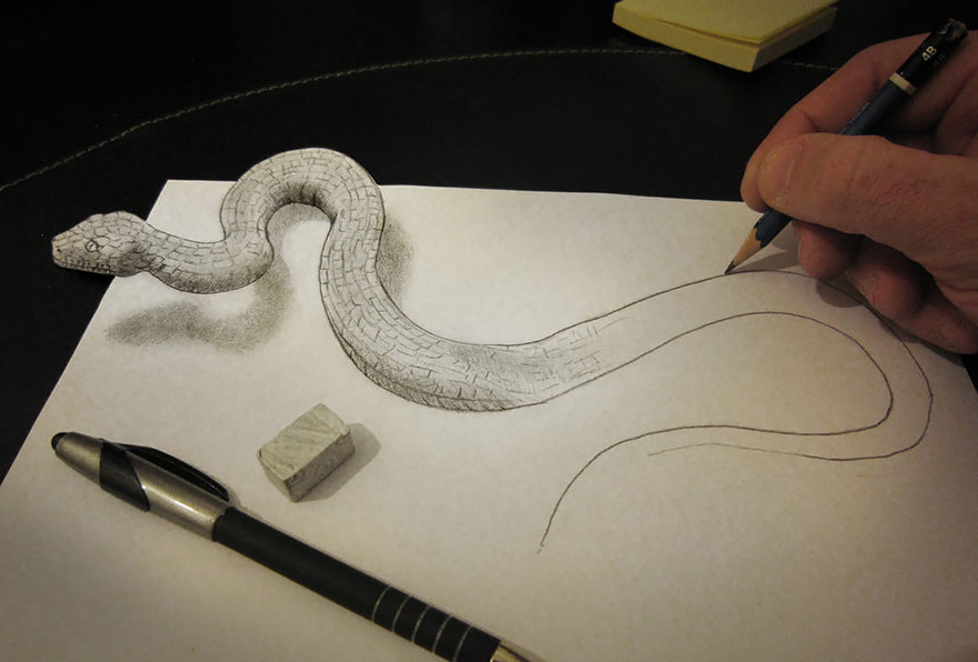 Amazing 3d pencil Drawings 17