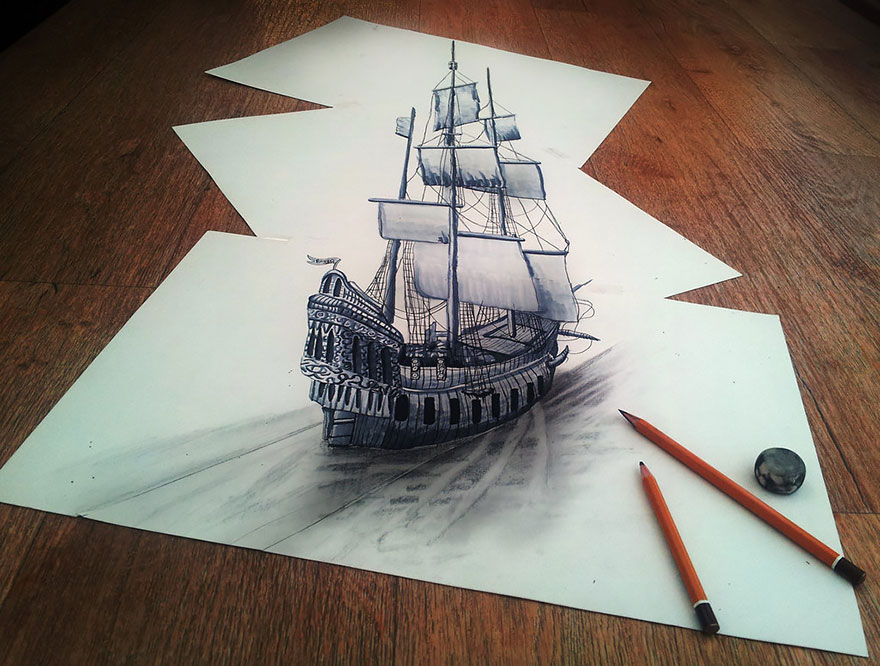 Amazing 3d pencil Drawings 18
