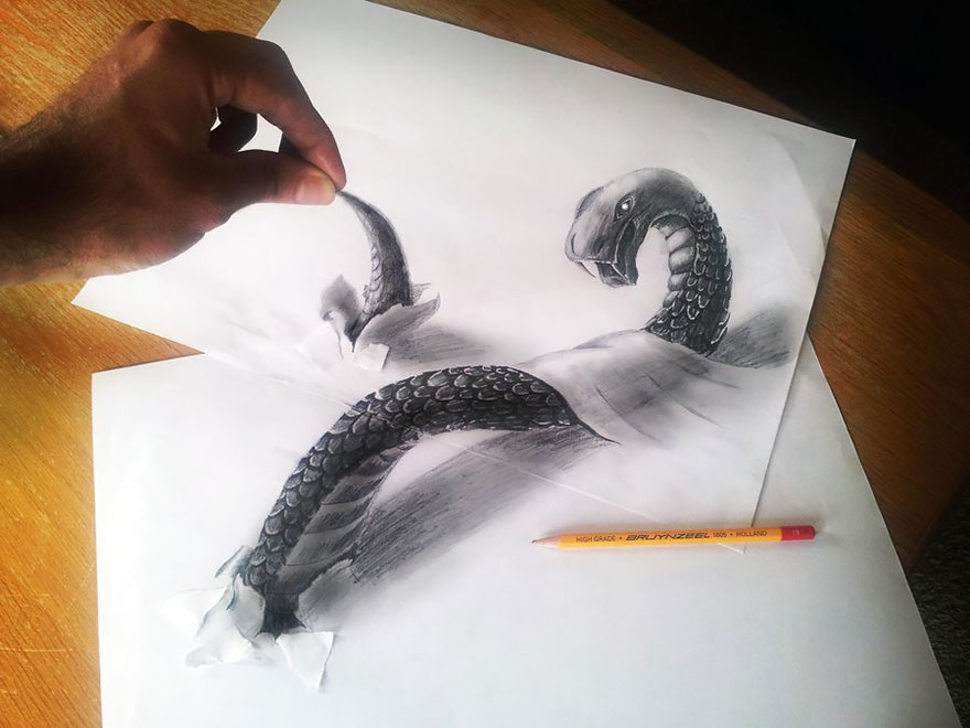 Amazing 3d pencil Drawings 19