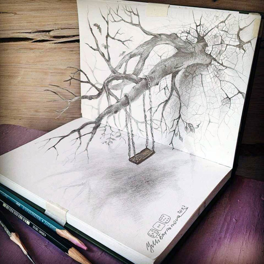 Amazing 3d pencil Drawings 21