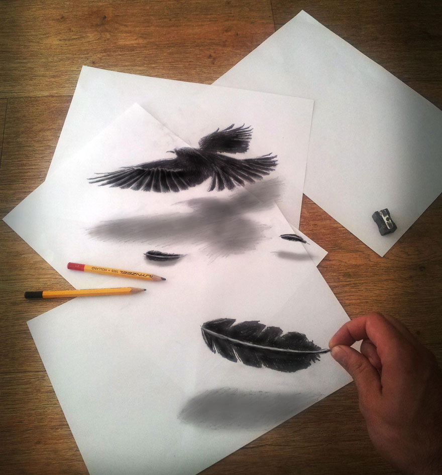 Amazing 3d pencil Drawings 6