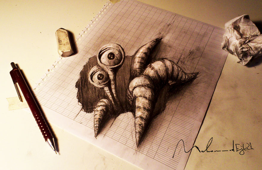 Amazing 3d pencil Drawings 7