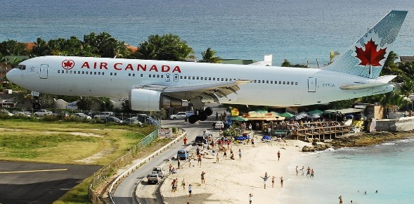 Most Dangerous Airport - Princess Juliana International Airport, St. Martin, Caribbean