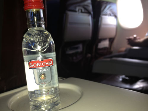 weird things on a plane - drinking in flight