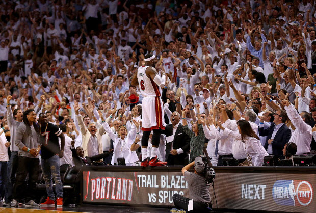 Greatest Sports Moment - 2014 NBA Playoffs James LeBron on table