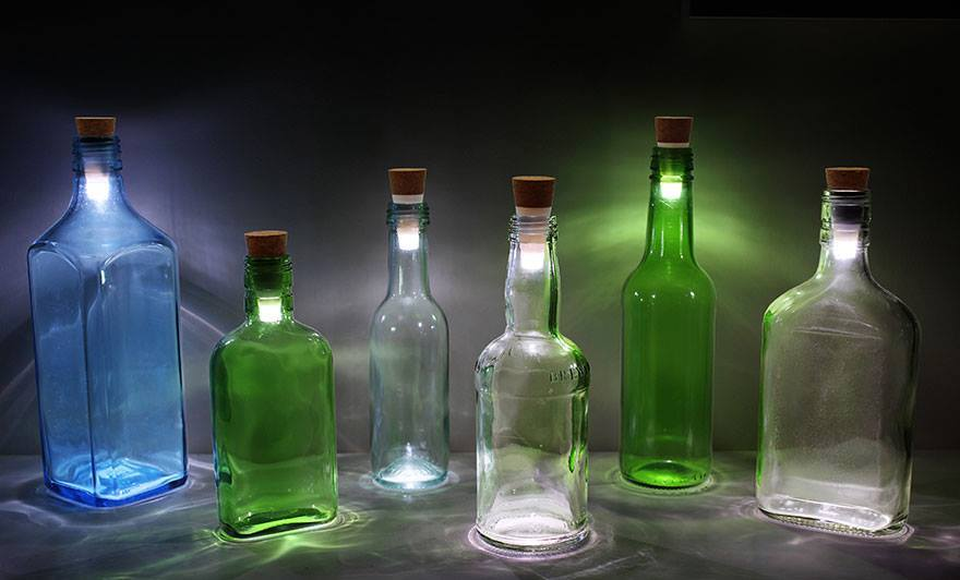 Bottle rechargeable LED lamp, best out of waste