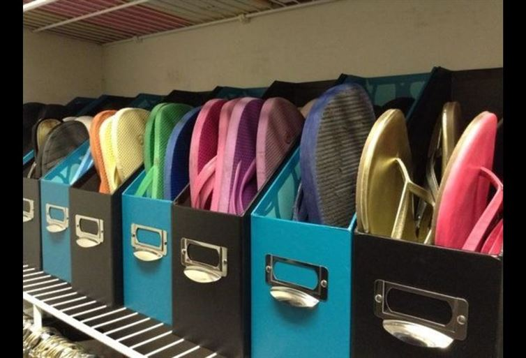 No need to keep searching your flip flops here and there. Organize them