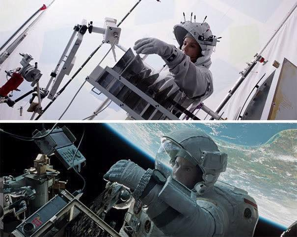 Behinde the scenes of some great movies - Gravity