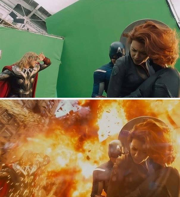 Behinde the scenes of some great movies - avengers