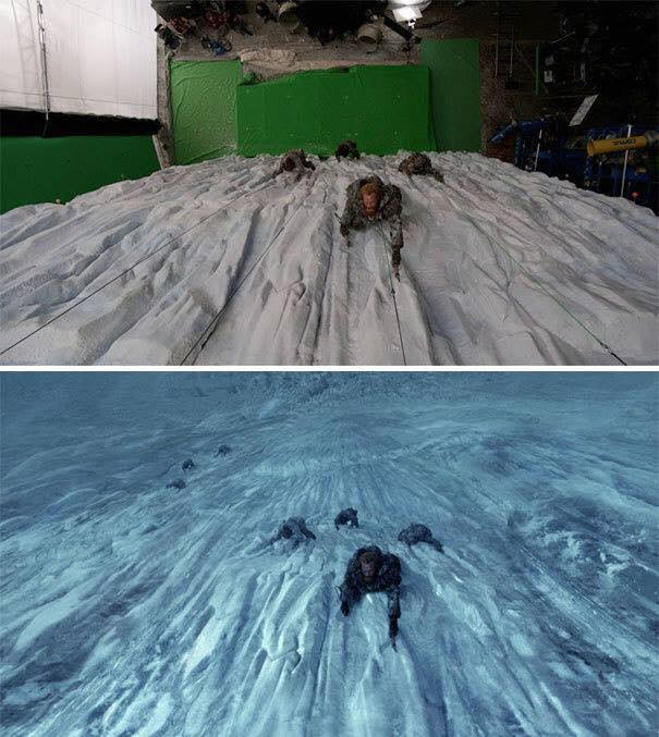 Behinde the scenes of some great scenes - game of thrones