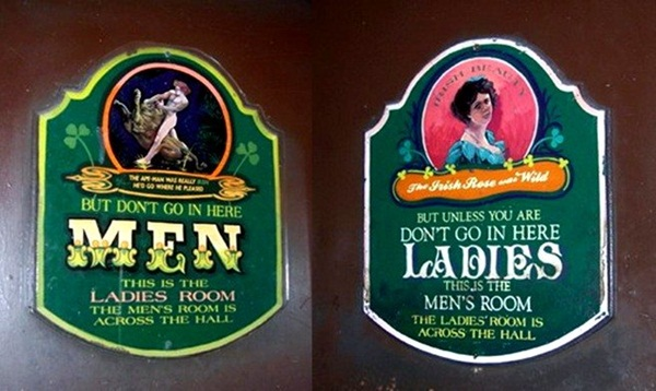 funny and weird bathroom signs, restroom signs, creative signs, creative washroom signs