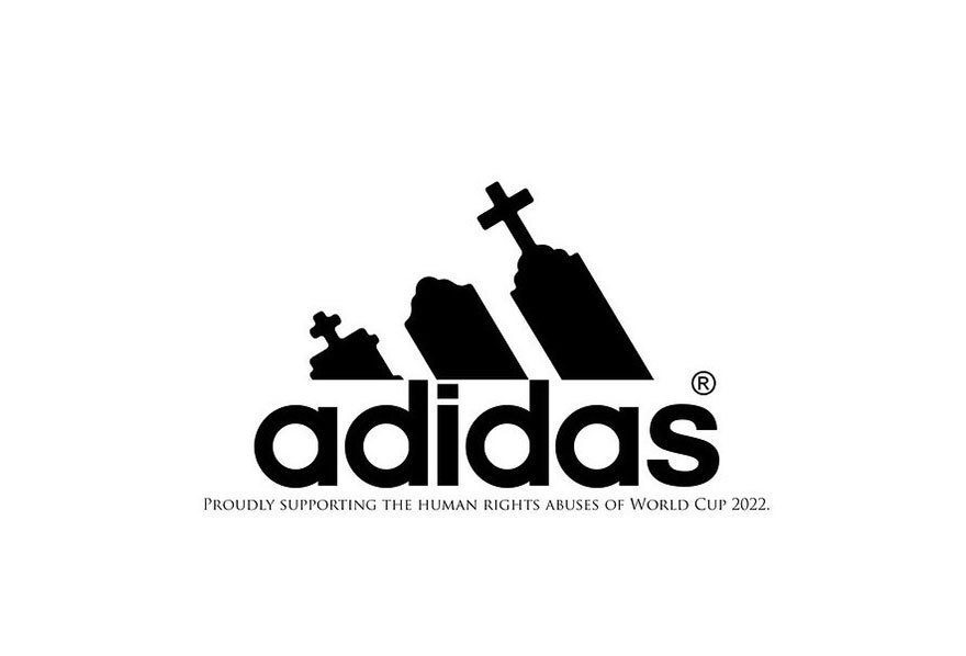 2022 qatar world cup - human rights abuse brand logos for protest - Adidas (2)