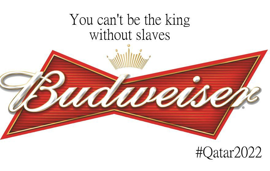 2022 qatar world cup - human rights abuse brand logos for protest - Budweiser