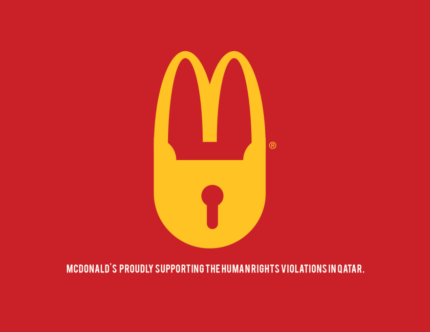 2022 qatar world cup - human rights abuse brand logos for protest - McDonalds (2)