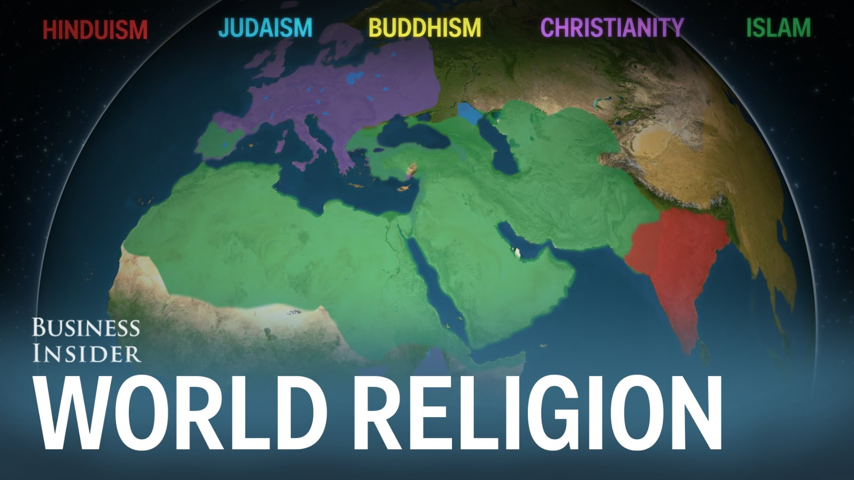 Spread of major religions of the world
