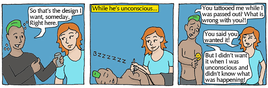 consent rape comics by alli kerkham